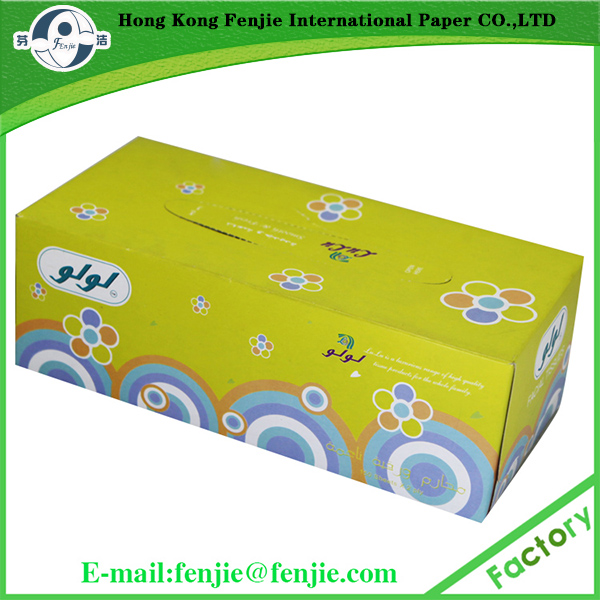 New super softness wood pulp print facial tissue with customize colorful box package products