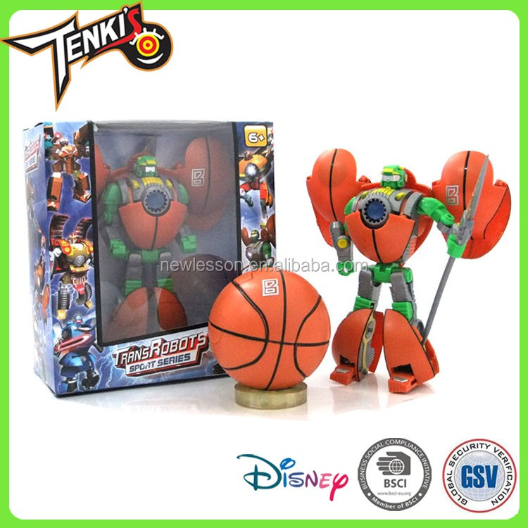 New style cool Basketball Pattern deformation toys Hot sale man robot toy for kids play Indoor