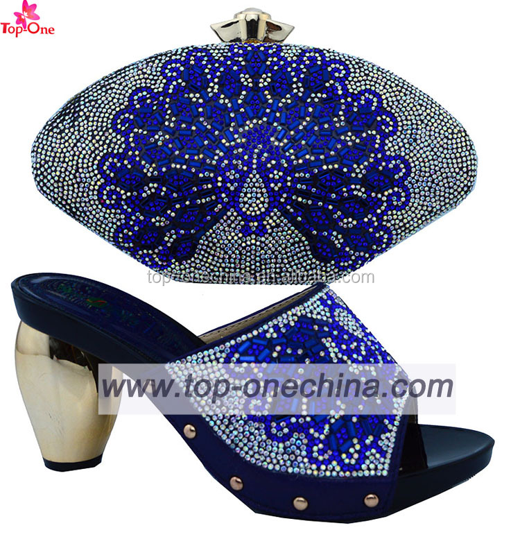 shoes and and women italian blue bag shoes set wedding set Popular royal bag for zF4qn8qH