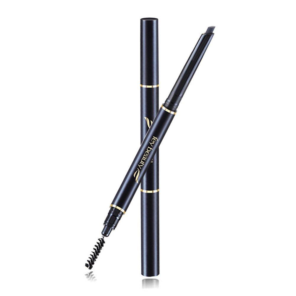 Bodermincer Eyebrow Pencil Eyeliner Waterproof Automatic Eyebrow Pencil Women Lady Waterproof Eyebrow Pencil Eye Brow Pen With Brush Make-Up Tools (Brown)