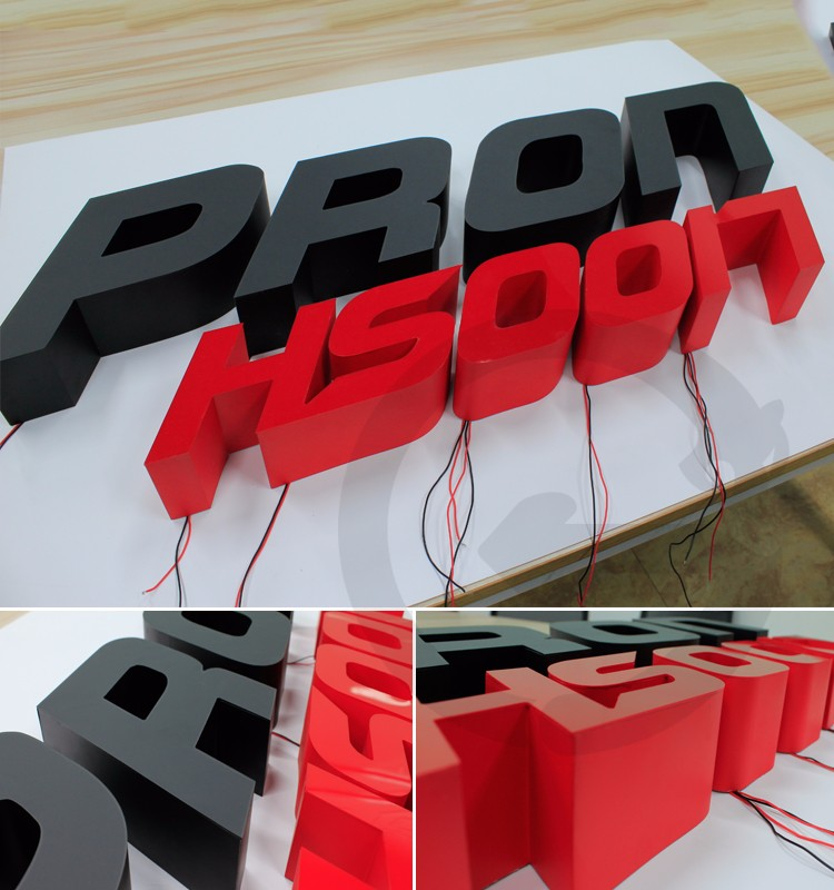 Led Acrylic Channel Letter Building Signs Waterproof Led Letter