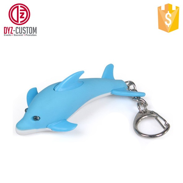 Dolphin shape led keychain with sound  (1).jpg