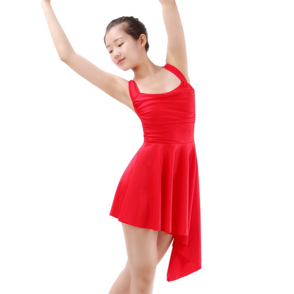 44f249116 Chiffon Ballet Skirt Modern Dance Dress Ballet Leotard with Skirts Girls