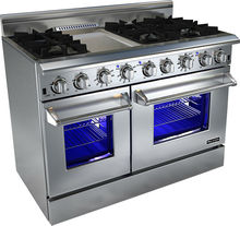 48-Inch 6-Burner Double Oven Chinese Gas Range