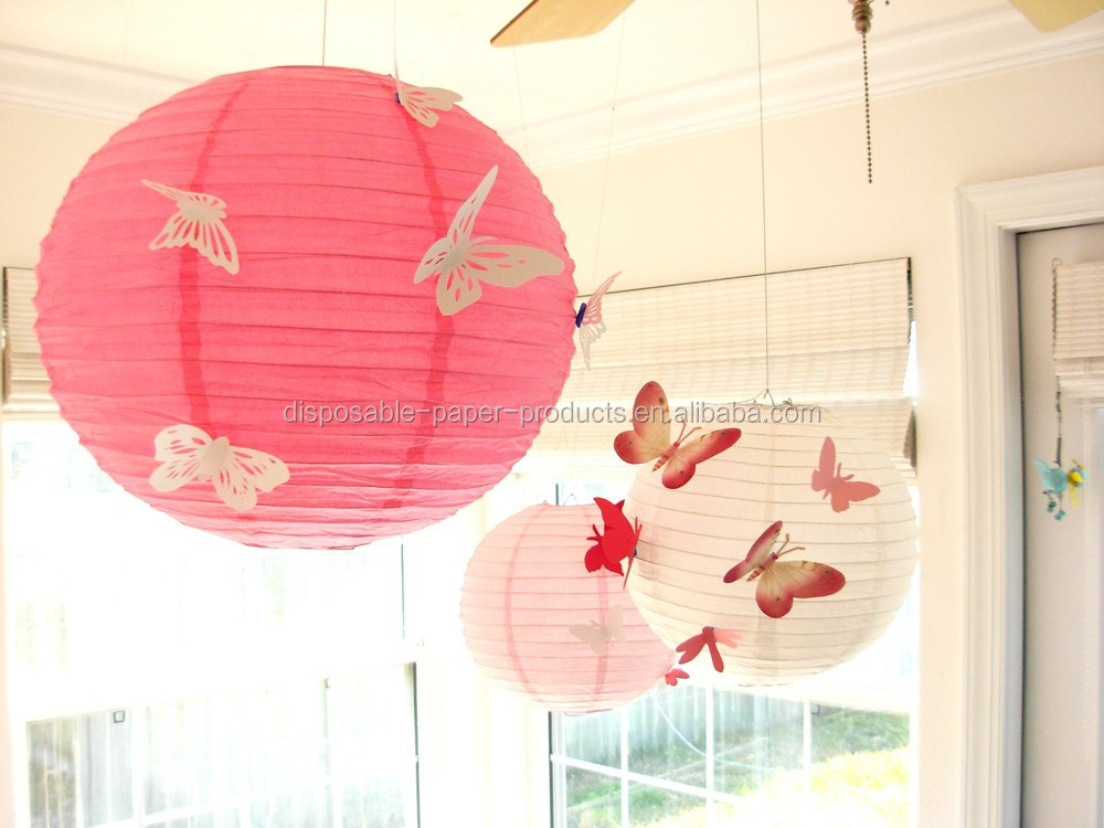 Decorative chinese lanterns butterfly lanterns wedding for Chinese lantern ideas
