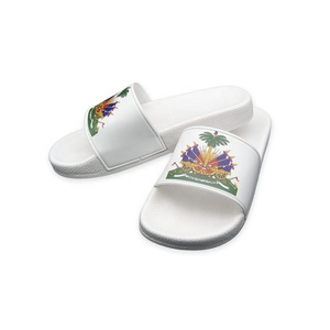 2019 new flat slippers lady shoes, PVC kids sandals with country flag , amazon hotsale slide sandals unisex