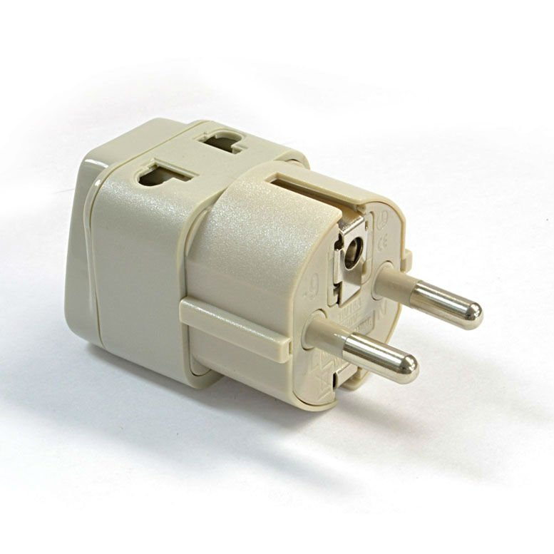 New OREI Grounded Universal 2 in 1 Schuko Plug Adapter Type E//F for Germany Euro