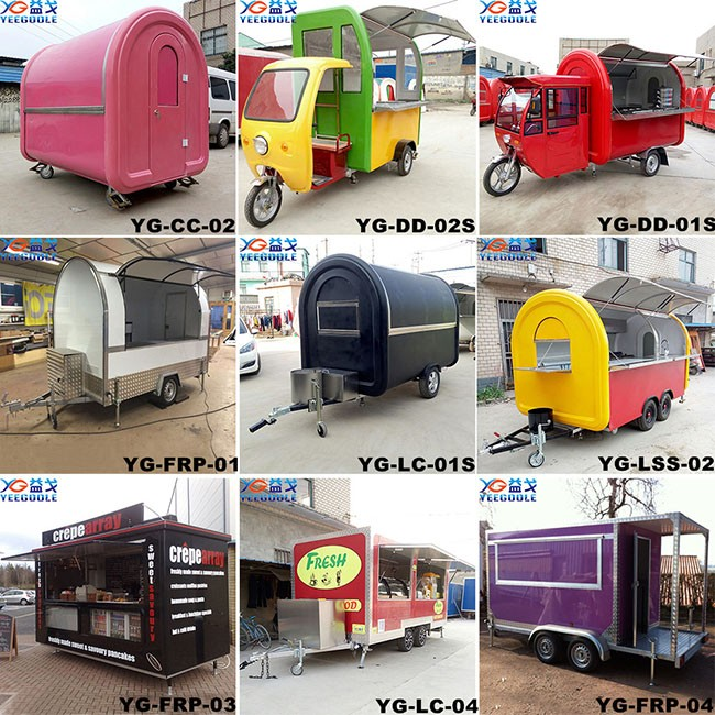 Out Door Mobile Food Truck Businessused Trucks With Braking System And CE For