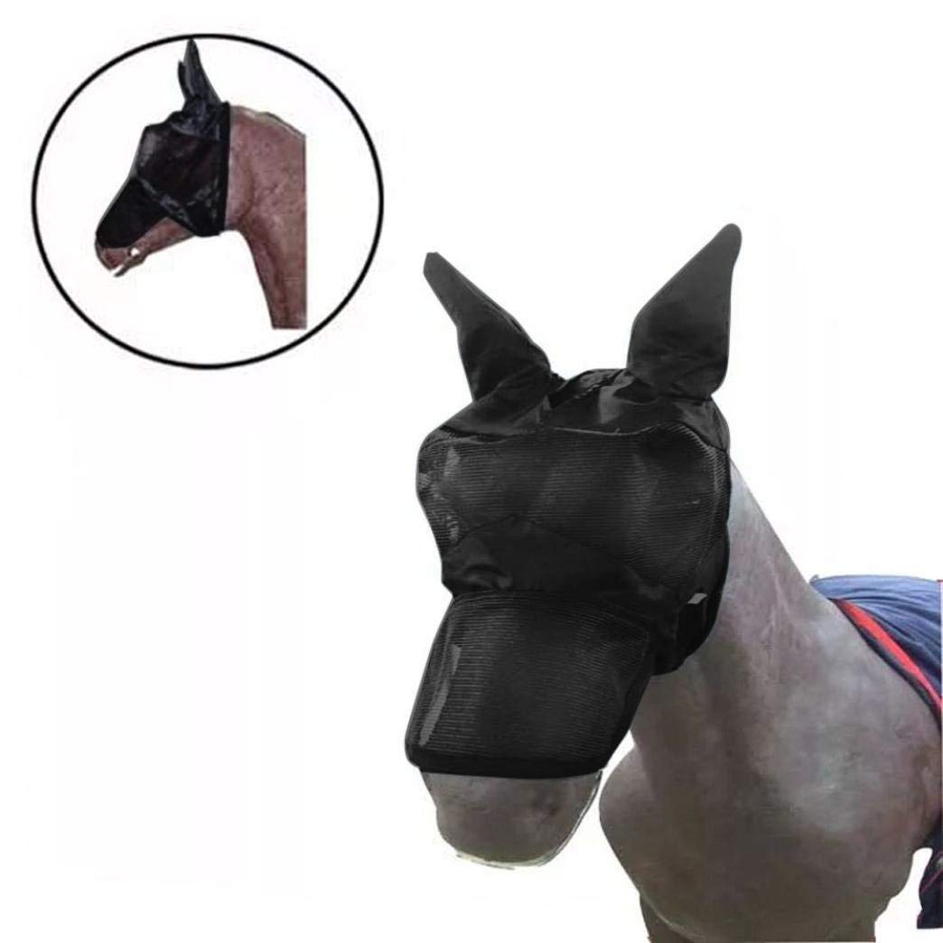 Samoii Clearance!Newest Unique Horse Mask Horse Face Mask Cover Stylish Horse Decor Horse Eyes Protector Horse Nose Sun Protection Horse Racing Pets Horse Accessories Prevent Flies and Bugs