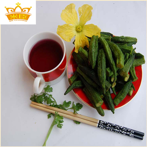 Dried Okra low temperature frying& as snacks