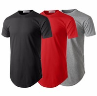 Fashion mens classice fitted performance gym long tshirt