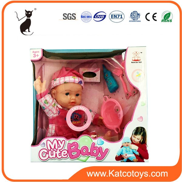 12 inch cute design baby doll with accessories and IC