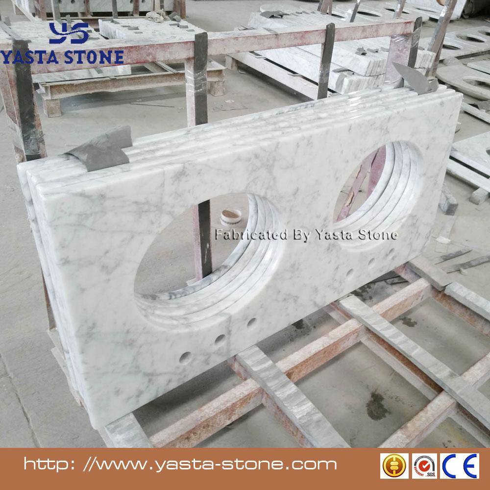 Italian Bianco Carrara White Marble Countertop