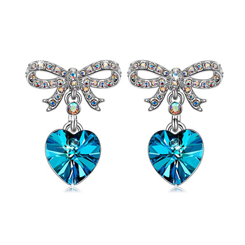 Fashion Bow Tie Dorp Earrings With Crystal From Swarovski
