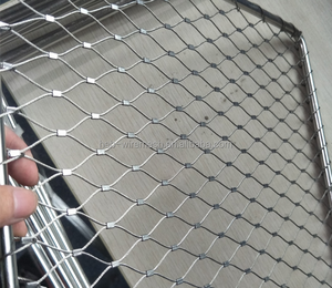 Factory Supply 306 SS wire mesh rope / bird netting / hand woven flexible stainless steel cable mesh