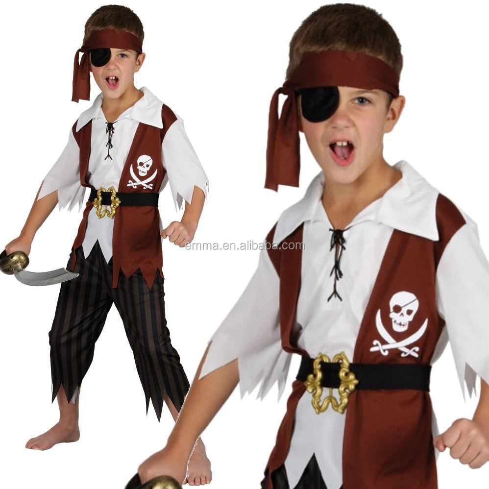 CHILDRENS PIRATE FANCYDRESS COSTUME OUTFIT HALLOWEEN