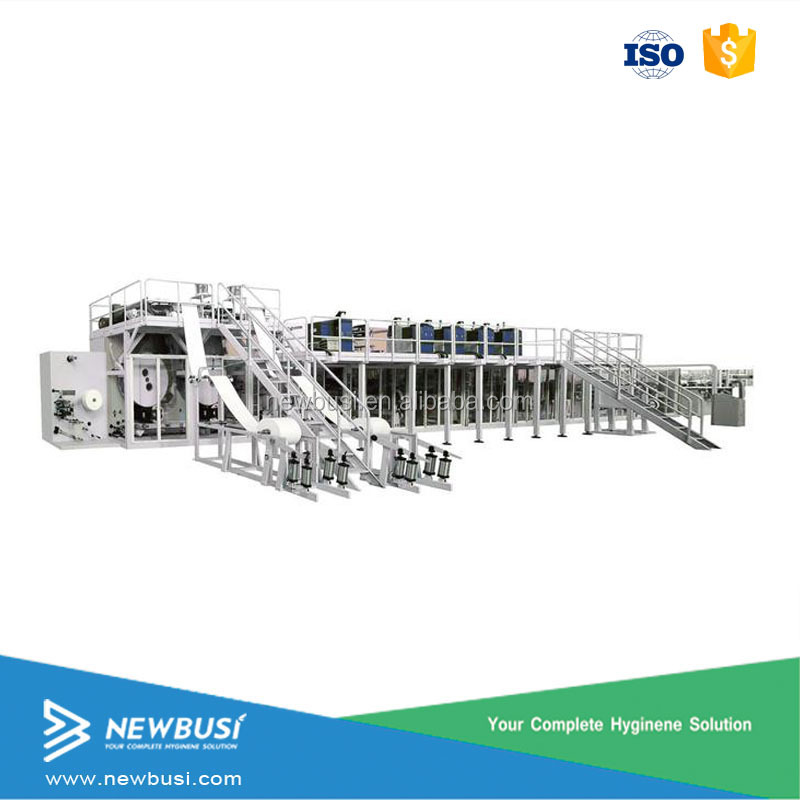 Automatic pampers baby diaper making machine machinery
