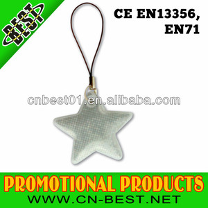 2015 news hot sell en13356 3M Reflective key chain manufacture