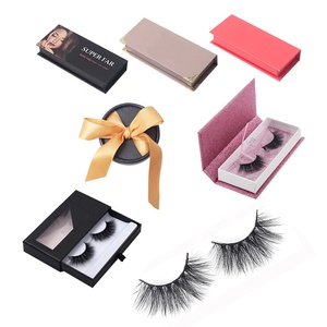 Whosale 3D Mink False Eyelash 6D faux Mink Korean Silk Eye Lash Private Label Own Brand Custom Packaging Box Vendor