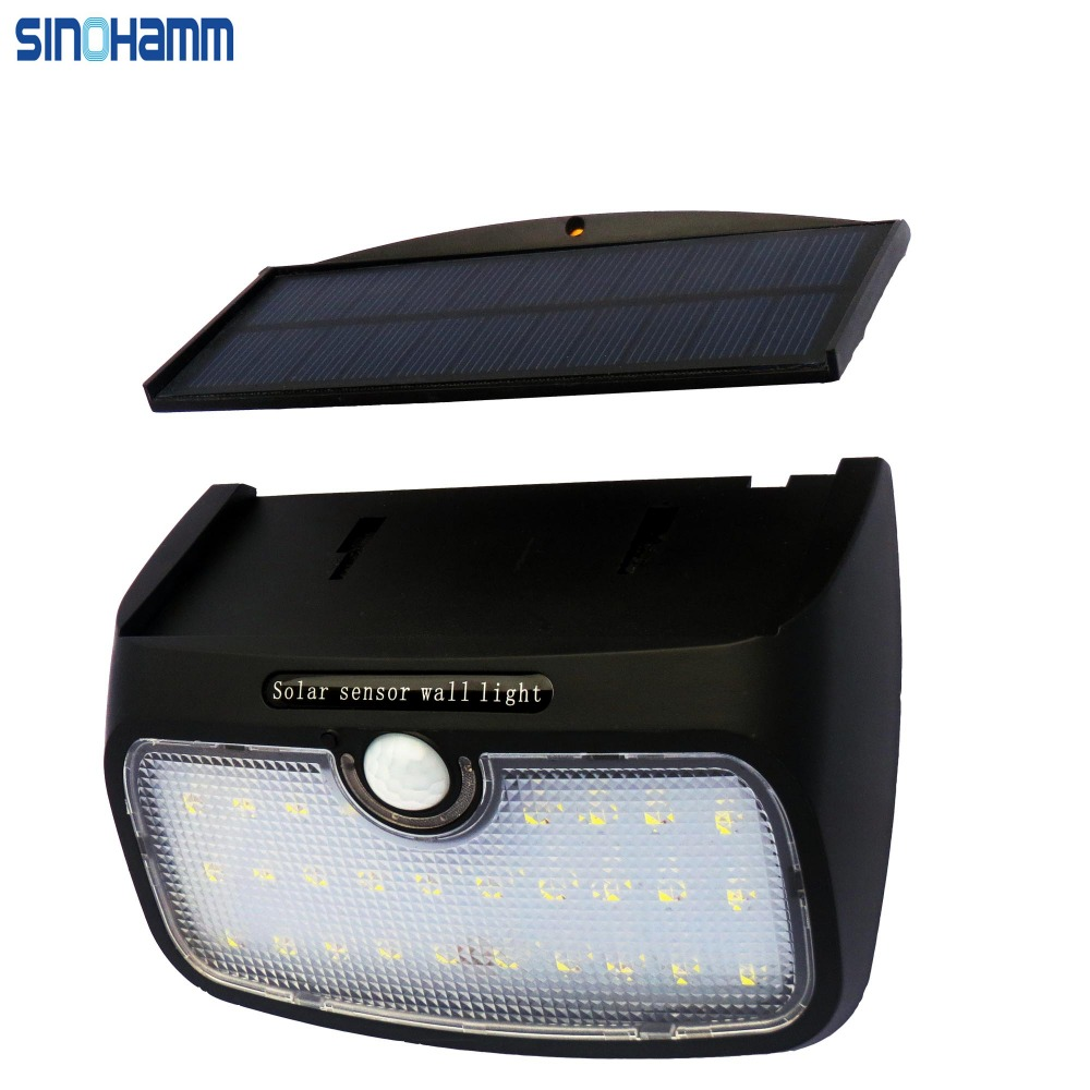 SINOHAMM 28 LED Separable Solar Light--Waterproof and Rechargeable Led Wall Light,Automatic Lighting