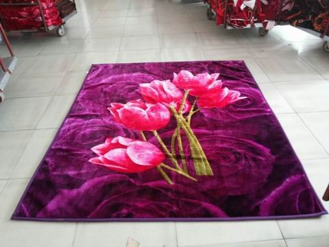 3D blanket a variety of colorful design and a variety of colors