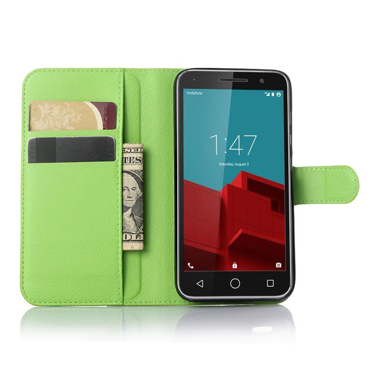 free shipping f771e 0d1ff Buy Vodafone Smart Prime 6 phone case fashion litchi texture flip ...