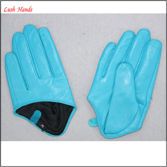 women fashion short driving leather gloves