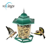 Hot bird producten Outdoor Tuin Plastic Huis Vorm Royal Wing Wilde Vogel Zaad <span class=keywords><strong>Feeder</strong></span> Opknoping Panorama Vogel <span class=keywords><strong>Feeder</strong></span>