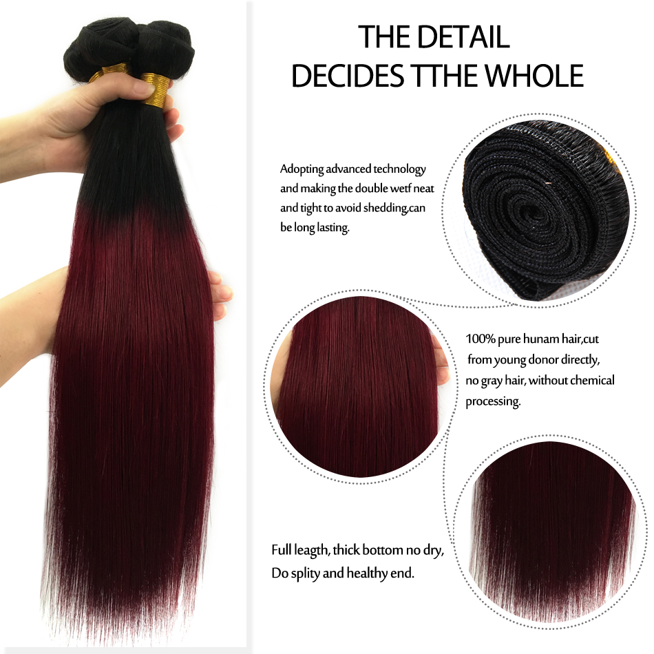 LSY New color ombre human hair extension,two tone brazilian vrigin human ombre hair weaves, sew in human hair weave ombre hair