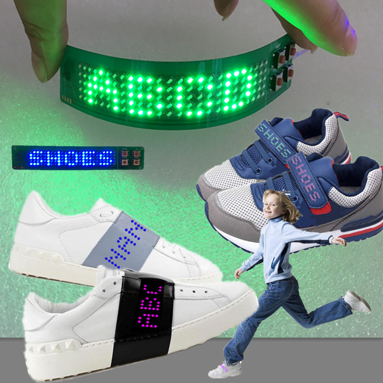 Christmas Shoes Diy.New Christmas Diy Magic Text Rrotate Flashing Light Shoes Led Strip Light For Sole And Vamp Buy Led Strip Light Flashing Led Strip Light Diy Text