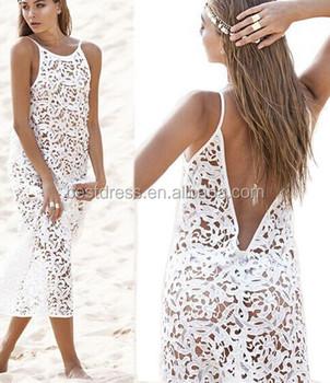 Summer Womens Beach Long Dress Swimwear Lace Crochet Bikini Cover Up Bathingsuit S M L Xl Buy Lace Crochet Bikini Cover Uplace Cover Up