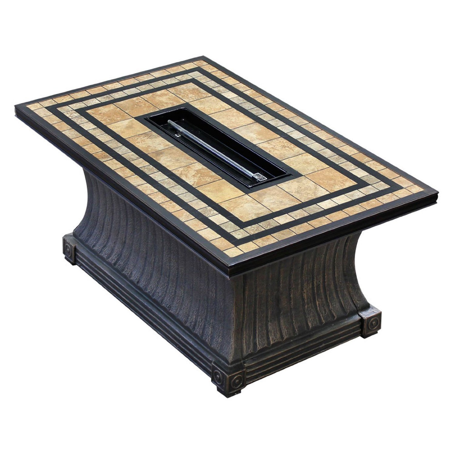 Get Quotations · TK Classics FP-TUSCAN-KIT Tuscan Rectangular Porcelain Top  Gas Fire Pit Table, - Cheap Gas Fire Pit Parts, Find Gas Fire Pit Parts Deals On Line At