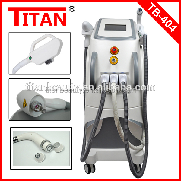 Big promotion from titan beauty equipment 4 in1 beauty system elight ipl rf nd yag laser ipl photo epilator