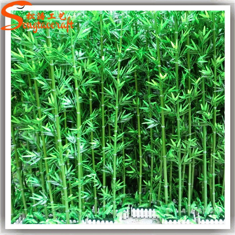 wholesale silk fabric leaves artificial bamboo tree for landscaping