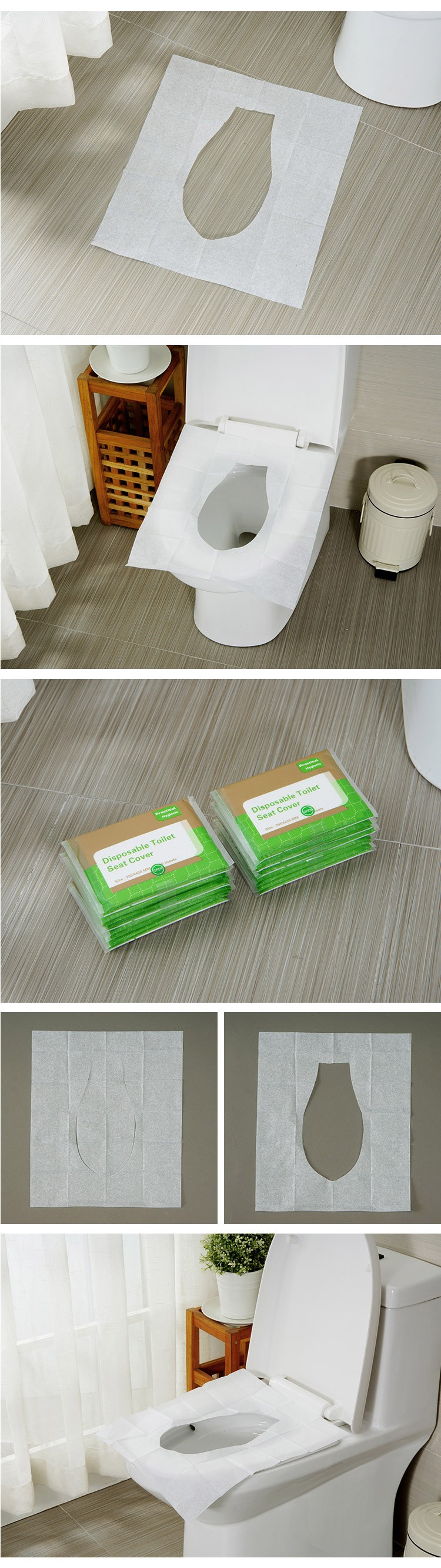 Travel Pack Toilet Seat Cover Paper Flushable Disposable