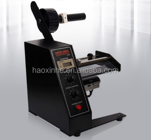 Automatische label strippen pvc label dispenser machine