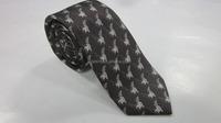 men's neckwear 100% Silk tie printed necktie and bowtie square pocket sets factory wholesale: animal tie - JTA607021