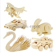 3D dřevěné puzzle různá zvířátka z Aliexpress