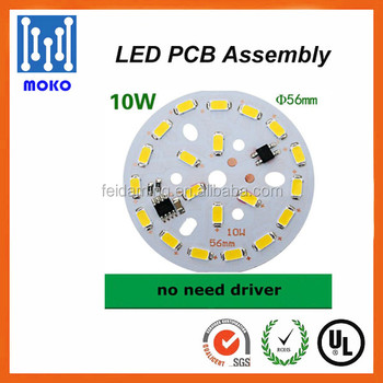 Promotional 10W driverless surface mounted panel light led pcb led modules plate for lamp lighting