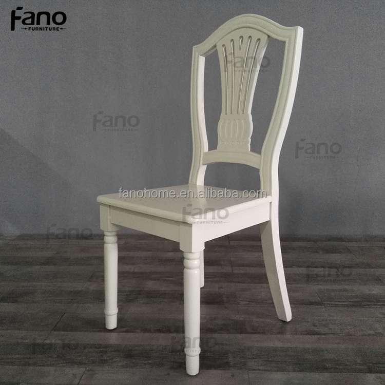 modern white wood wedding restaurant chairs