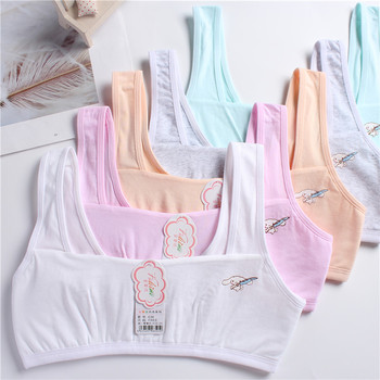 Factory direct sale Preteen cotton little girl vest bra young teens bra kids