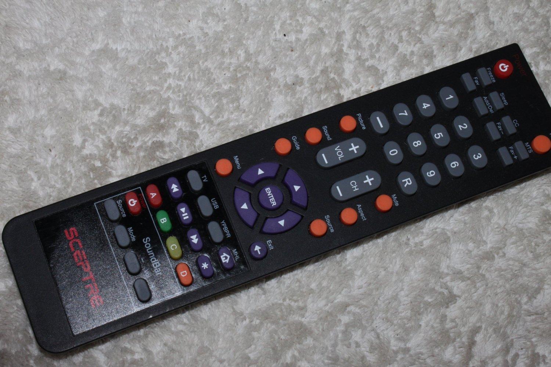 Sceptre DVD + Sound Bar Combo Tv Remote Control Fits E325 E245bd-fhdu E325bv-hdc E325-e328bv-fmd E328bd-hdc E475bv-fmdu X322bv-hdr E328bv-hdh , E243bd-fhd , E246bd-fhd , X405bv-fhd X322bv-hdr X325bv-fmdr E328bv-hdh E243bd-fhd E246bd-fhd X405bv-fhd and All Sceptre Combo Dvd + Sound Bar Combo Lcd Led