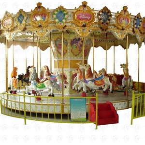 Colorful and beatiful kids loved amusement ride pony carousel for sale