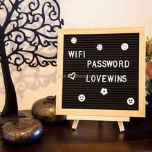 2017 best selling handcrafted wall custom size felt letter board with a wood display stand