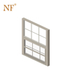 Aluminium frame top hung single sash window with inside grills