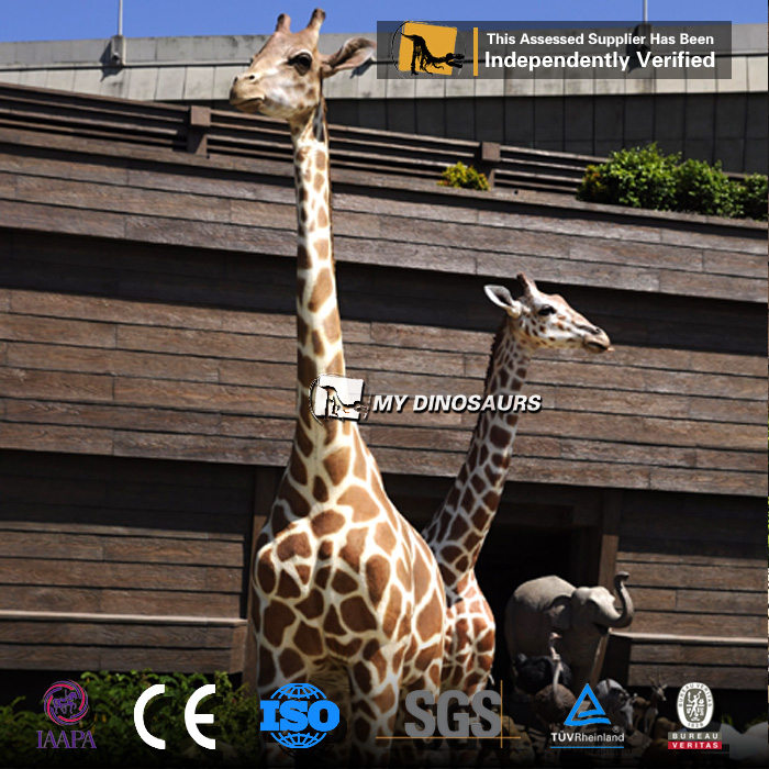 R-Life Size robot animals artificial animatronic giraffe for sale