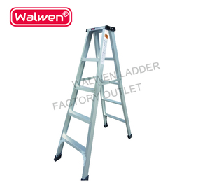 Cheap price movable plastic step double-sided folding A type aluminum ladder