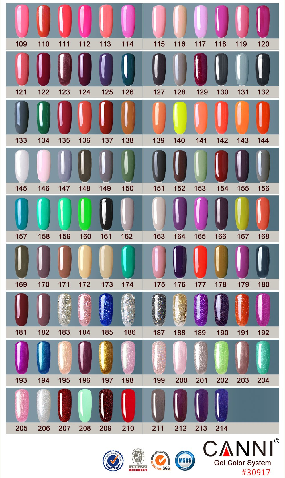 30917a Hot Sale In Russia 7.3ml Canni Gel Lacquers Nail Polish 239 ...