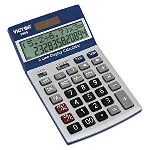 9800 2-Line Easy Check Display Calculator, 12-Digit, LCD, Sold as 1 Each