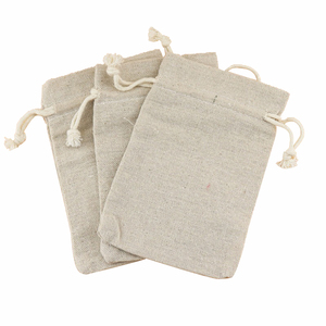Light Weight Portable Canvas Pouch Mini Pocket Cotton Bag Drawstring